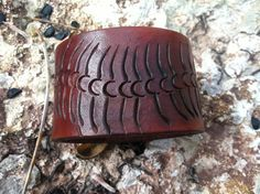centipede cuffrecycled leather cuff bracelet by longshotleather, $39.00 so cool.