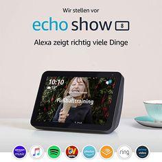 Echo Show 8 – Schermo intelligente HD da con Alexa Amazon Echo, Amazon Video, Radios, Appel Video, Beats Pill, Alexa App, Camera Cover, Ring Video, Tela