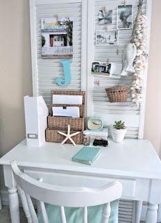 beachcomber blog... great coastal small home office work area ideas