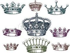 krone tattoo: Alte Krone Set
