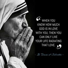 """""""When you know how much God is in love with you then you can only live your life…"""