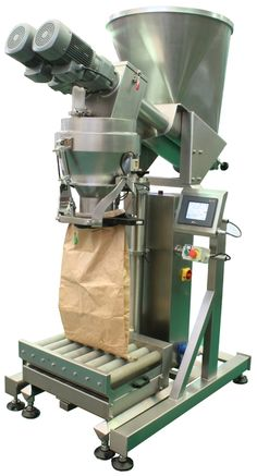 Automatic Bag Weighing And Filling Machine.. ME New Equipment stainless steel bag or carton powder filling machine. Suitable for the food, chemical, pharmaceutical and general industries.