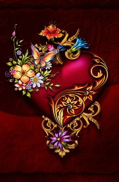 Wallpaper… By Artist Unknown… Wallpaper … Von Artist Unknown … Flower Phone Wallpaper, Heart Wallpaper, Butterfly Wallpaper, Love Wallpaper, Cellphone Wallpaper, Mobile Wallpaper, Wallpaper Backgrounds, Iphone Wallpaper, Photos Islamiques