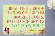 Love this!! maybe on the RSVP cards?
