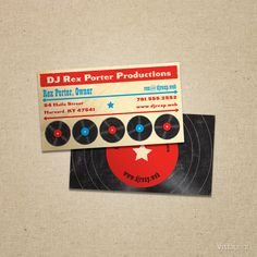 Red Record Shop Business Cards | Vistaprint