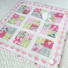 "Carried Away Quilting's Coffee Time Quilt in ""Strawberry Biscuit"" by Elea Lutz for Penny Rose Fabrics (Free Tutorial)"