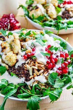 Roasted Cauliflower and Chickpea Quinoa Salad
