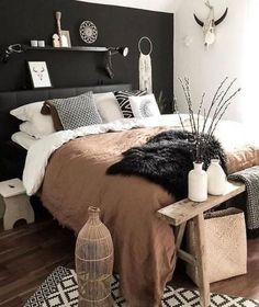 Farmhouse Master Bedroom, Master Bedroom Makeover, Room Ideas Bedroom, Home Decor Bedroom, Bedroom Furniture, 50s Bedroom, Western Bedroom Decor, Interior Livingroom, Furniture Makeover