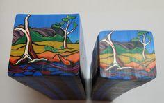 "Tree cane # 12 ""River Gums 2""   by Wendy Jorre de St Jorre"