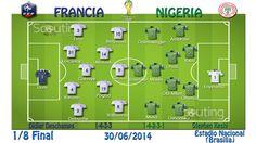 1/8 de Final: Partido Francia vs Nigeria Alineaciones titulares y sistemas de juego
