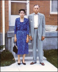 Vintage Snapshot: Miserable Old Couple ~ 16 Funny Family Photos