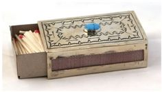 """Stamped Matchbox Cover by J. Alexander Rustic Silver - These are sometimes called """"Navajo Ronsons."""""""