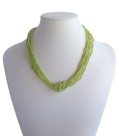Love Knot Lime Green A$19.50 Red Necklace, Beaded Necklace, Fair Trade Fashion, Knots, Artisan, Jewelry Making, India, Beads, Red Burgundy