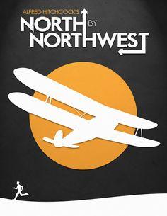 North by Northwest - minimal movie poster