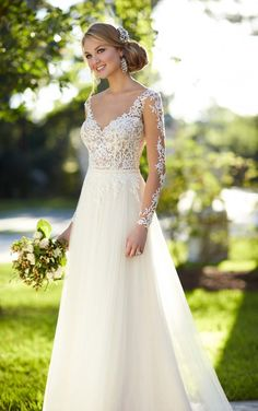 Just unpacked this pretty #lace gown style 6224 Illusion Lace Wedding Dress by @stellayorkbride! #charleston #weddinggown