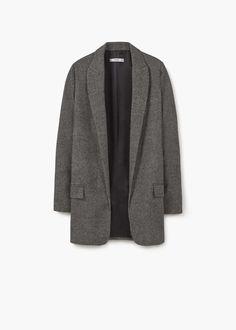 Veste laine structurée | MANGO