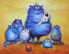 New addition . Splat Le Chat, Matou, Cartoon Sketches, Cat Colors, Blue Cats, Cat Drawing, Whimsical Art, Cute Illustration, Animal Paintings