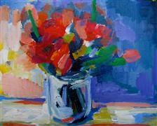 Discover Original Art for Sale Online at UGallery | Bouquet acrylic painting by Ina Shtukar