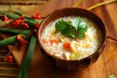 Leftover Turkey Recipe: Chinese Congee (Rice Porridge or Jook) ~ http://steamykitchen.com