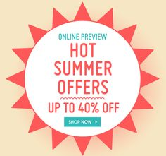 HOT SUMMER OFFERS - Cute Promo and Creative