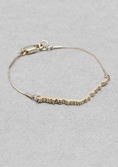 Wood-effect bracelet