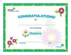 Daughter of a girl scout leader i must make this for tay and printable girl scout bridging award certificates printable girl scout certificates daisy bridging certificate yadclub Images