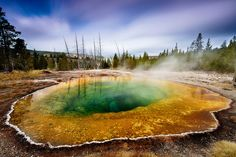 2 minutes with Morning Glory Pool at Yellowstone National Park