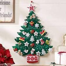 Bucilla Nordic Christmas Tree ~ Felt Advent Calendar Kit 86584 European New 2015 Felt Advent Calendar, Christmas Tree Advent Calendar, Advent Calenders, Felt Christmas Ornaments, Christmas Stockings, Nordic Christmas, Christmas Sewing, Christmas Holidays, Felt Decorations