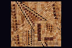 "wine+cork+art | Antonio"" recycled wine corks by Wine Cork Designs 