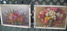 Vintage Floral Botanical Wall Hangings Two by sistersvintageattic