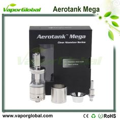 1:1 Clone Aerotank Mega Clearomizer The Aerotank Mega offers the same great features and performance as the Aerotank but with a redesigned airflow valve. Turn the dial on the base to increase or decrease airflow to your preference. It also comes with a stainless steel replacement tube if glass isn't your thing. In this version the atomizer heads have also been redesigned with the wicks hidden to further prevent leakage.