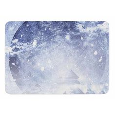 KESS InHouse Even Mountains Get Cold by Elf Oersted Memory Foam Bath Mat