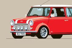 1997 Mini Cooper S Print in Signal Red