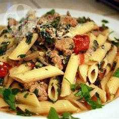 Sausage and Spinach Pasta @ allrecipes.co.uk