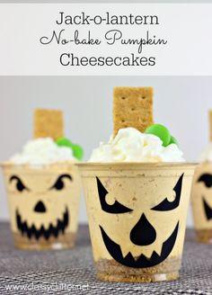 No bake Pumpkin Cheesecakes