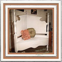 Buy & Sell Handmade Crafts, Jewelry, Quilts, Soaps & Greeting Cards, Custom Homemade Products Online - Made It Myself Corner Headboard, Headboard Benches, Corner Bench, Headboard And Footboard, Headboard Ideas, Headboards, Repurposed Furniture, Painted Furniture, Furniture Making