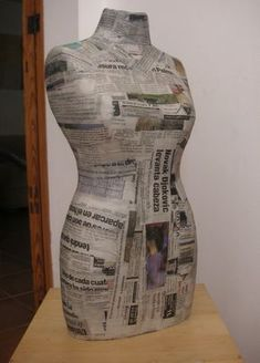 Мини-манекен (МК) On these wonderful dress forms, will be a beautiful way to display Hankies dresses! Paper Mache Crafts, Cardboard Crafts, Diy Sewing Projects, Sewing Hacks, Sewing Art, Sewing Patterns, Sewing Clothes, Diy Clothes, Vintage Mannequin