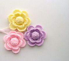 Pack of 3 Hand Crochet Pastel Coloured Acrylic by CraftsbySigita on Etsy