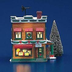 "Dept 56 Snow Village ""Al's Tv Shop"" Retired #54232"