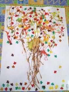 Arbre d'automne à l'encre soufflée - Automne - Galerie - Forums-enseignants-du-primaire