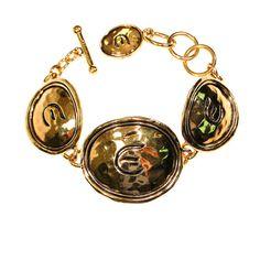 Elizabeth Taylor for Avon Bracelet  Bold Large Link Bracelet featuring oval medallion style links Heavy, Bold Gold Style with a shiny gold tone