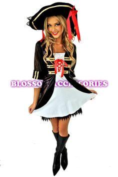 Captain Swashbuckler Pirate Womens Costume