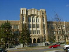 Quincy, IL, my hometown.  This was my Jr. High, my mom's High School.