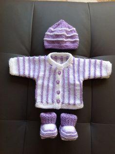 Layette PREMA Parme et Blanc 28 a 30 semaines : Mode Bébé par coeur-de-layette