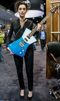 St. Vincent and the Ernie Ball Music Man St. Vincent Guitar