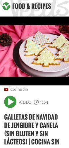 Galletas de Navidad de jengibre y canela (sin gluten y sin lácteos) | Cocina SIN | #navidad #singluten | http://veeds.com/i/jwNVFqfNJgNpA86O/jummy/