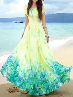 Maxi Dress,Blue Dress,Fashion Dress