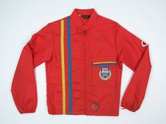 Vintage track jacket with a ton of cool patches, including one for the 1972 Munich Olympics! Back right shoulder seam has been repaired. Tag size is youth 14, could fit an XS adult, see measurements below. Measurements: Width underarm to underarm: 17.5 in. / 44 cm Length from center back collar: 22 in. / 56 cm Sleeve length from center back collar: 29 in. / 74cm All measurements are taken with the garment laying flat. See more vintage fashion like this at: troyanvintage.etsy...