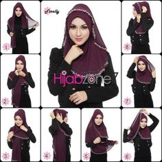 I love the color of this hijab.