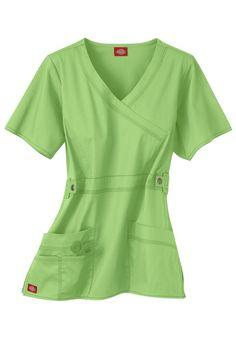 Dickies Gen Flex Youtility junior fit mock-wrap scrub top   Scrubs & Beyond
